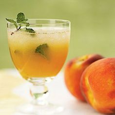 Peach Mojitos | CookingLight.com