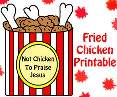 Church House Collection Blog: Not Chicken To Praise Jesus Cutout Printable Template Craft For Sunday School Kids-Preschool Kindergarten Fried Chicken Bulletin Board Idea or Coloring Page