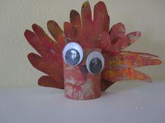 Toddler Handprint Turkey Craft