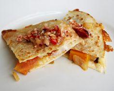 Pumpkin Quesadillas with Cranberry Orange Salsa