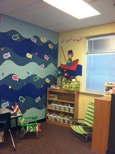 wall pattern, bulletin board, classroom libraries