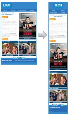 Responsive Email Design from ODEON
