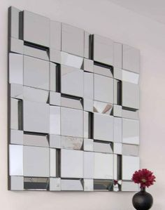 Multi Facet Wall Mirror | Home ::: Contemporary Glass Mirrors ::: * Multi Facet Square Mirror ...