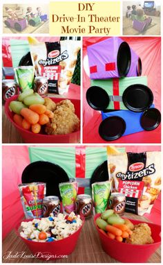 DIY Drive-In Theater Movie Party- Family Night Dinner and a Movie night #Tyson2Nite #cbias #shop