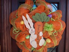 32 inch Easter  Welcome Bunny Rabbit Spring Deco by myfriendbo, $95.00