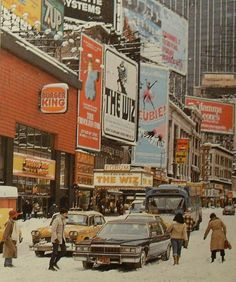 Times Square 1970's Winter ~ NYC.