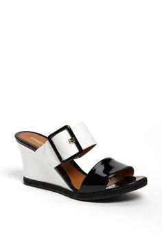 Fendi 'Vernis' Wedge Sandal Black