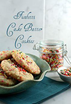 Authentic Suburban Gourmet: Funfetti Cake Batter Cookies
