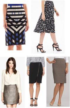Skirts from JC Penney, Forever 21, H&M, Target, & Dress Barn.