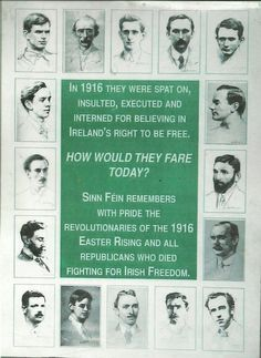 Remember those from 1916... Ireland