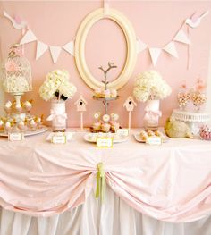 baby shower or girl party. #pinkparty #pinkbabyshower #babyshowerdecor