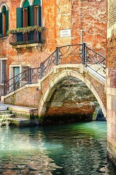 Small Canal Bridge, Venice, Italy