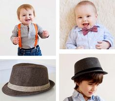 Fedora hats, suspenders, bow ties and other cool stuff for boys. #obsessed #kidstyle #fashion