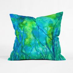 Underwater Landscape Pillow Cover | dotandbo.com #pillow #throwpillow #art #abstract #homedcor #denydesigns
