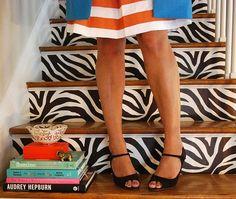 zebra print stairs :)