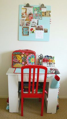 Cute little sewing desk!