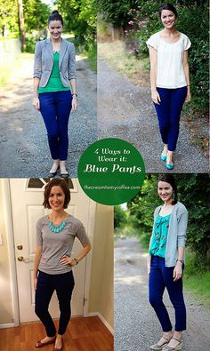 4 Ways to Wear Blue Pants = Adorable!