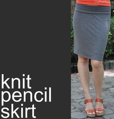 Knit Pencil Skirt: A Tutorial