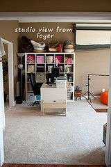 Jessica's studio... neat, simple, organized, awesome.