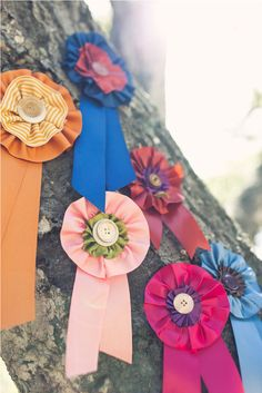 DIY Ribbon Medallions by Posh Paperie