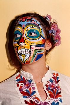 Tribal face painting.