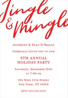 Jingle and Mingle In