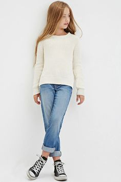 Girls Chunky Knit Sw