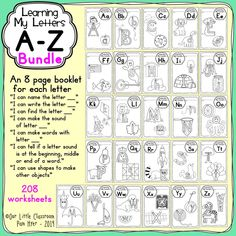 Learning My Letters Bundle - Awesome alphabet activities