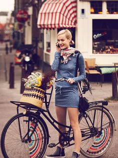 Safety conscious in a miniskirt, via Free People