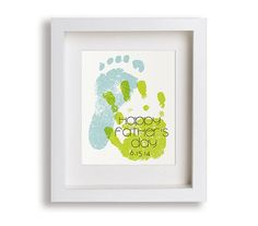foot print ideas, foot print fathers day, gift ideas, father day, art prints, hand prints, fathers day gifts, print person, father's day foot prints