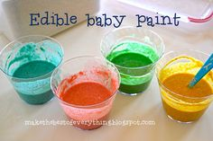 edible baby paint, no cooking