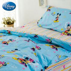 Mickey Mouse Baby Blue Luxury Disney Bedding Sets