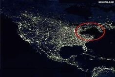 Shot from space of Sandy's blackout. Incredible.