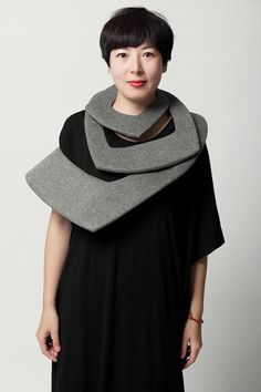 wool necklace by C'est La Chine.