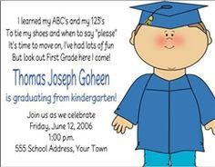 Kindergarten or Preschool Graduation Invitation