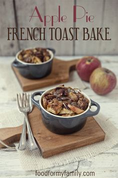Apple Pie French Toast Bake #Recipe via FoodforMyFamily.com