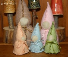 Wool Roving Forest Gnomes   Wee Folk Art