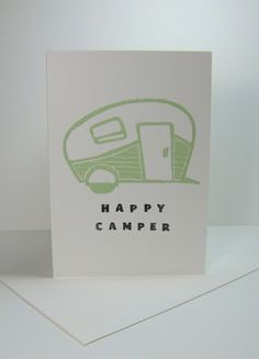 UNDEFINED - Stamp Carving - Retro Camping Trailer