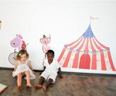 Big Top Circus Tent  reusable fabric wall decals