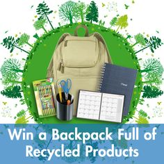 #WIN a LEEDS Backpack filled with Sustainable Goodies! Just Follow, Repin & leave us a comment on our blog to enter. Good luck! #GIVEAWAY #GREEN