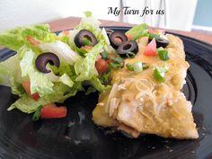 My Turn for us: Skinny Green Chicken Enchiladas