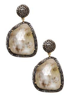 Sapphire + Diamond Earrings