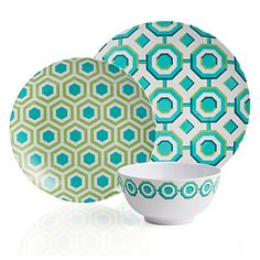 Z Gallerie - Perspective Dinnerware - Sets of 4 - Aquamarine - wish it came w/ yellow