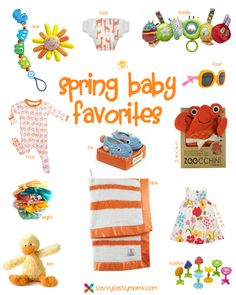 12 Spring baby favor