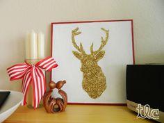 DIY Glitter Deer Art
