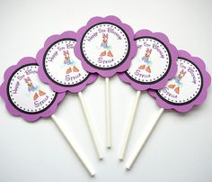 Daisy Duck Birthday Party - Cupcake Toppers - Set of 12.  via Etsy.
