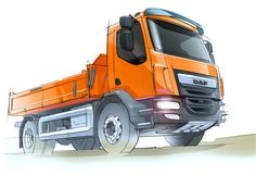 DAF LF Construction Truck - Design Sketch