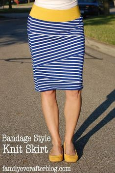 Women fashion: DIY Bandage Style Knit Skirt