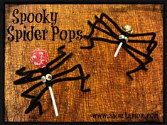 Spooky Spider Pops - About A Mom