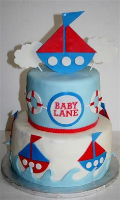 adorable baby boy shower cake